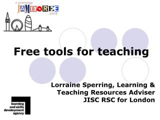 Free tools for teaching
