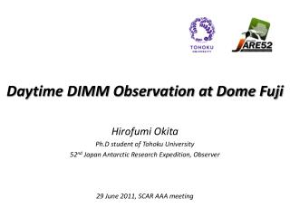 Daytime DIMM Observation at Dome Fuji