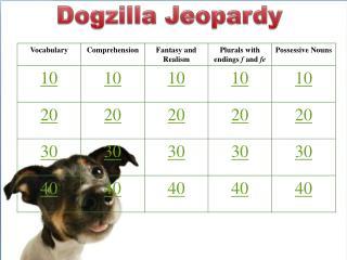 Dogzilla Jeopardy