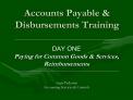 Accounts Payable  Disbursements Training
