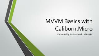 MVVM Basics with Caliburn.Micro