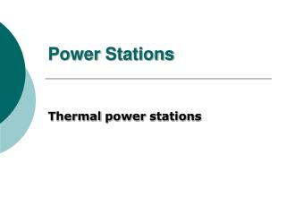 Power Stations