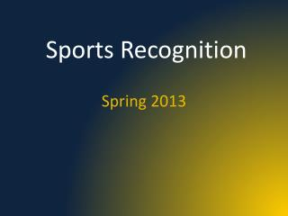 Sports Recognition