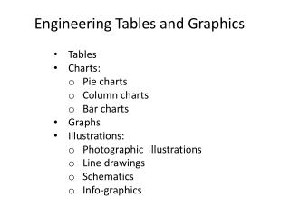 Engineering Tables and  Graphics