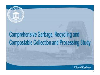Purchased 9 Garbage and Recycling Trucks in 2001 for $1.012 million.      (Loan paid off in 2006)