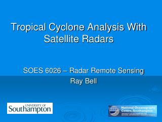 Tropical Cyclone Analysis With Satellite Radars