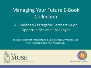 Managing Your Future E-Book Collection