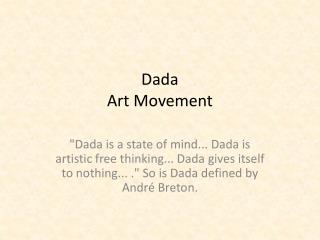 Dada Art Movement