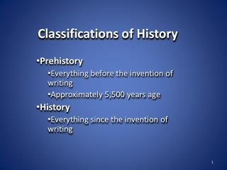 Classifications of History