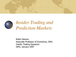 Insider Trading and Prediction Markets