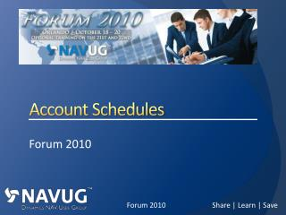 Account Schedules