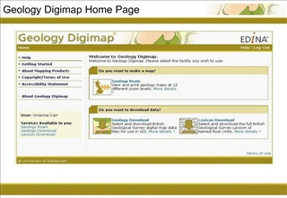 Geology Digimap Home Page