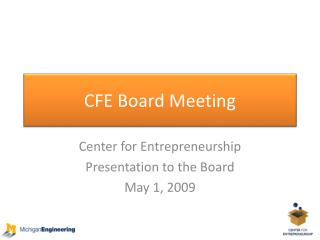 CFE Board Meeting