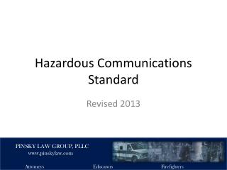 Hazardous Communications Standard