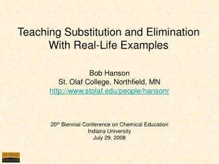 Teaching Substitution and Elimination With Real-Life Examples