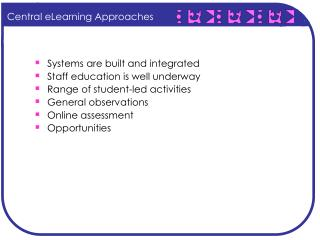Central eLearning Approaches