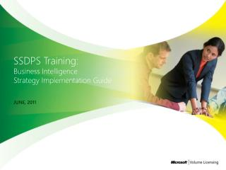 SSDPS  Training: Business Intelligence  Strategy  Implementation Guide