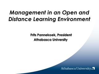 Management in an Open and Distance Learning Environment