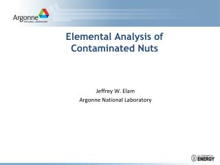Elemental Analysis of Contaminated Nuts