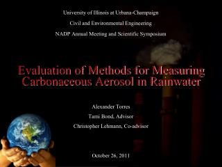 Evaluation of Methods for Measuring Carbonaceous Aerosol in Rainwater