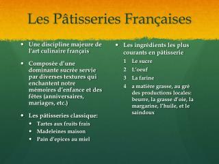 Les Pâtisseries Françaises