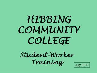HIBBING COMMUNITY COLLEGE