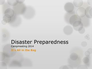 Disaster Preparedness Campmeeting  2014
