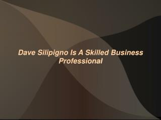 Dave Silipigno Is A Skilled Business Professional