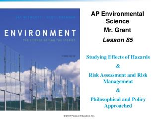 AP Environmental Science Mr. Grant Lesson  85