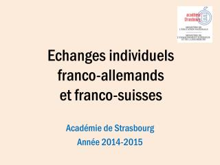 E changes individuels  franco-allemands  et franco-suisses