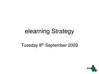 elearning Strategy