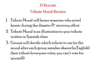 El  Rescate Tribute  Mural  Review