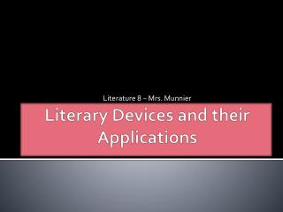 Literary Devices and their Applications