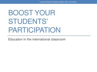 Boost your students' participation