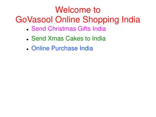 Send Christmas Flower Gifts and Cakes in  India - GoVasool