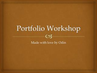 Portfolio Workshop