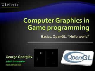Computer Graphics in Game programming