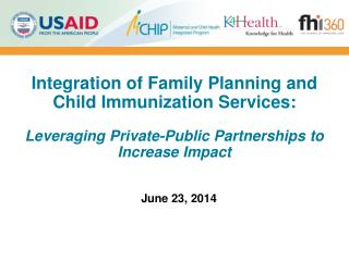 Integration  of Family Planning and Child Immunization Services: