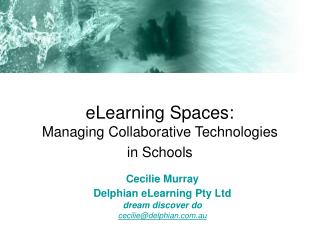 eLearning Spaces: Managing Collaborative Technologies in Schools