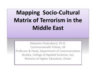 Mapping  Socio-Cultural Matrix of Terrorism in the Middle East