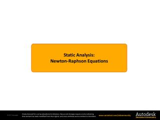 Static Analysis: Newton-Raphson  Equations