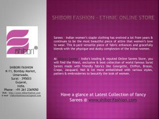 ShiboriFashion.com - Leading Online Shopping Store India