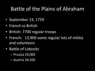 Battle of the Plains of Abraham