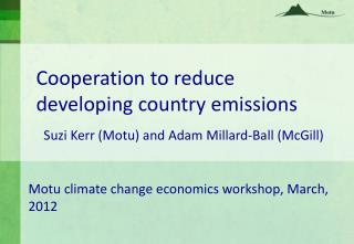 Cooperation to reduce developing country emissions