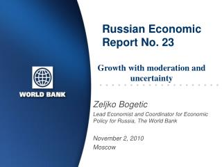 Russian Economic Report No. 23
