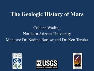 The Geologic History of Mars