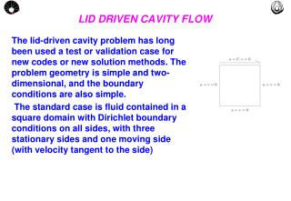 PPT - LID DRIVEN CAVITY FLOW PowerPoint Presentation - ID
