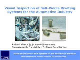 Visual Inspection of Self-Pierce Riveting Systems for the Automotive Industry