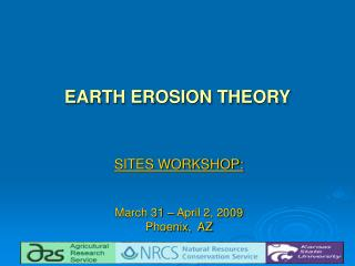 EARTH EROSION THEORY