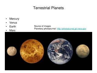 Terrestrial Planets